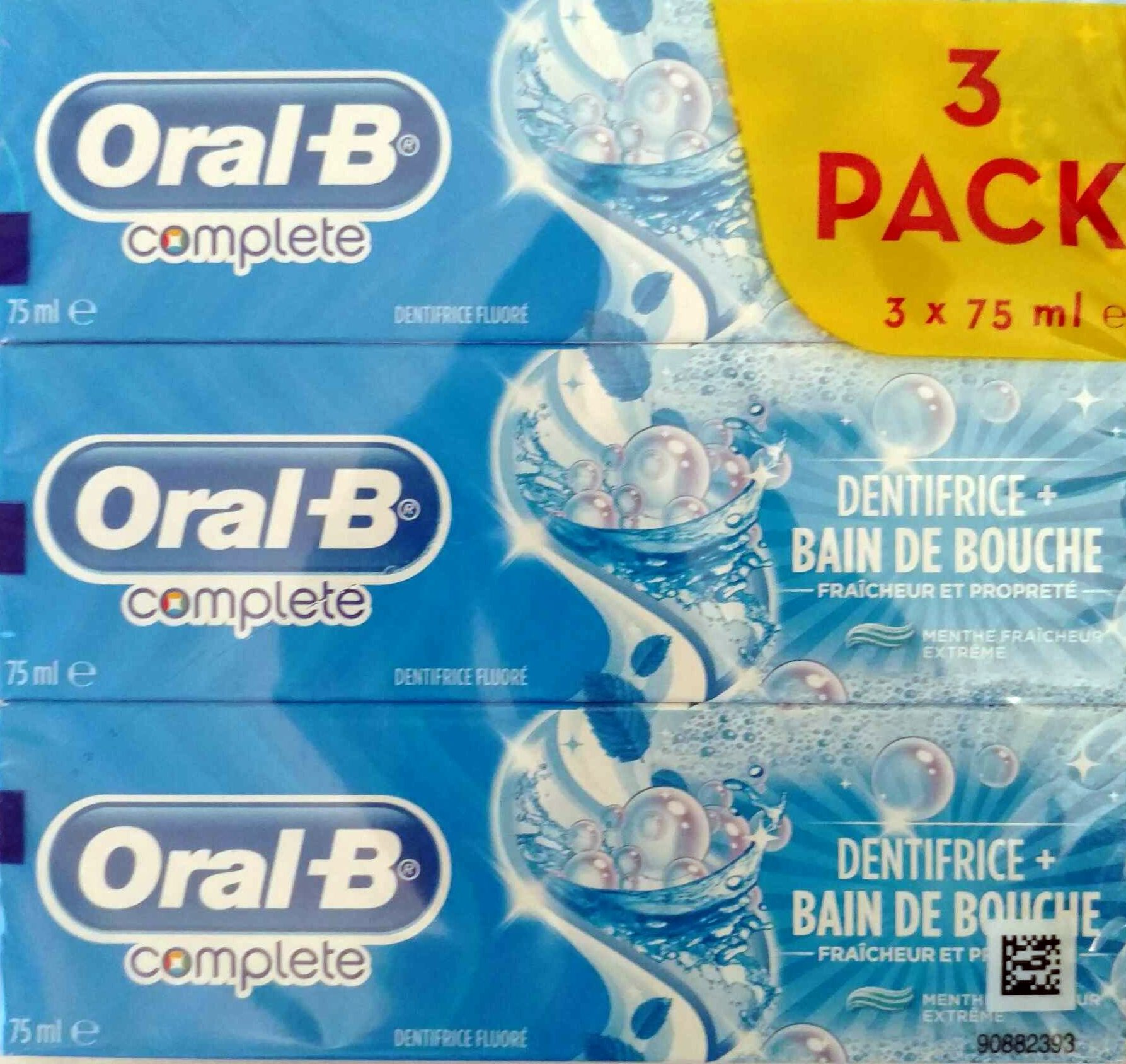 Complete dentifrice + bain de bouche (3 Pack) - Product - fr
