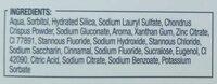 Dentifrice bi-fluoré - Ingredients