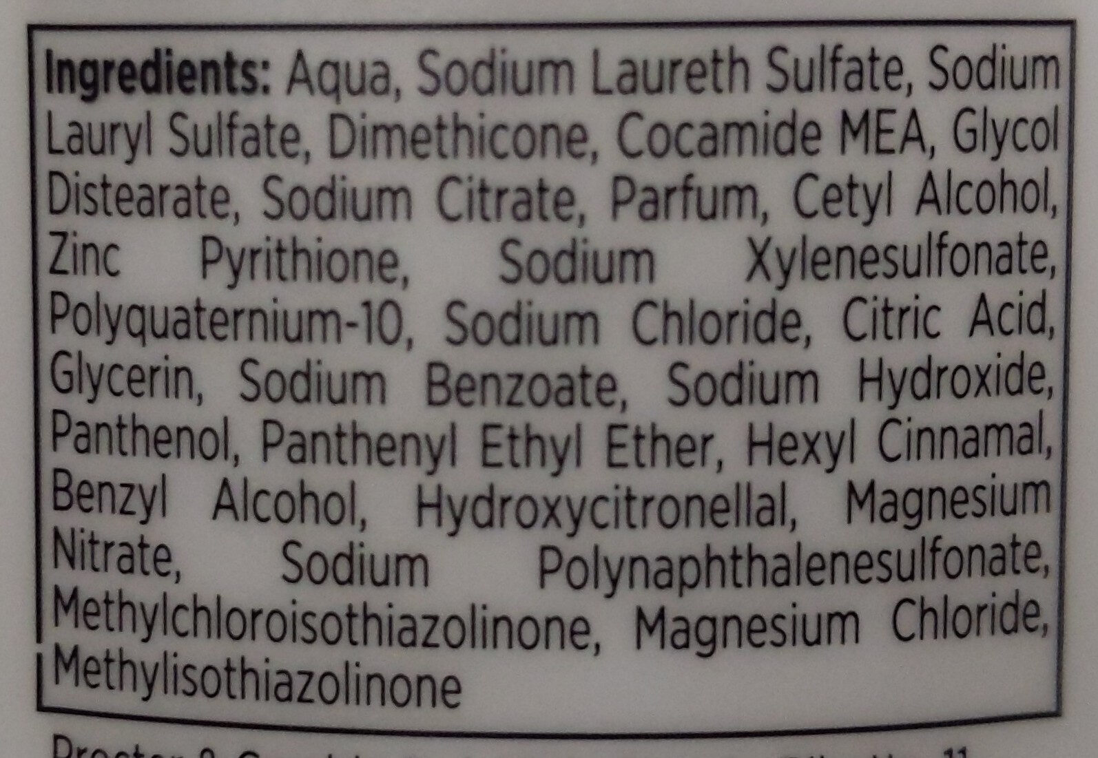 Pantene Pro-V 3 in 1 Shampoo + Balsamo + trattamento - Ingredients - it