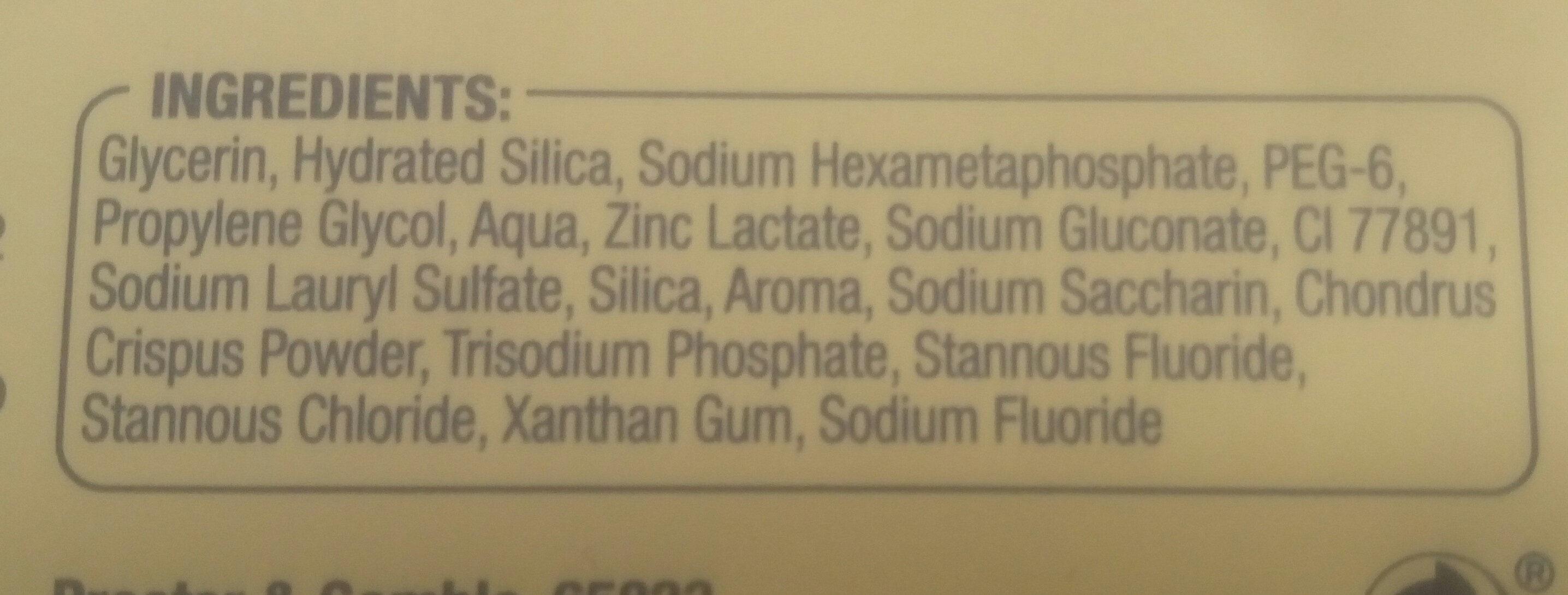 Oral-B PROFESSIONAL Zahnfleisch & -schmelz PRO-REPAIR ORIGINAL - Ingredients - de