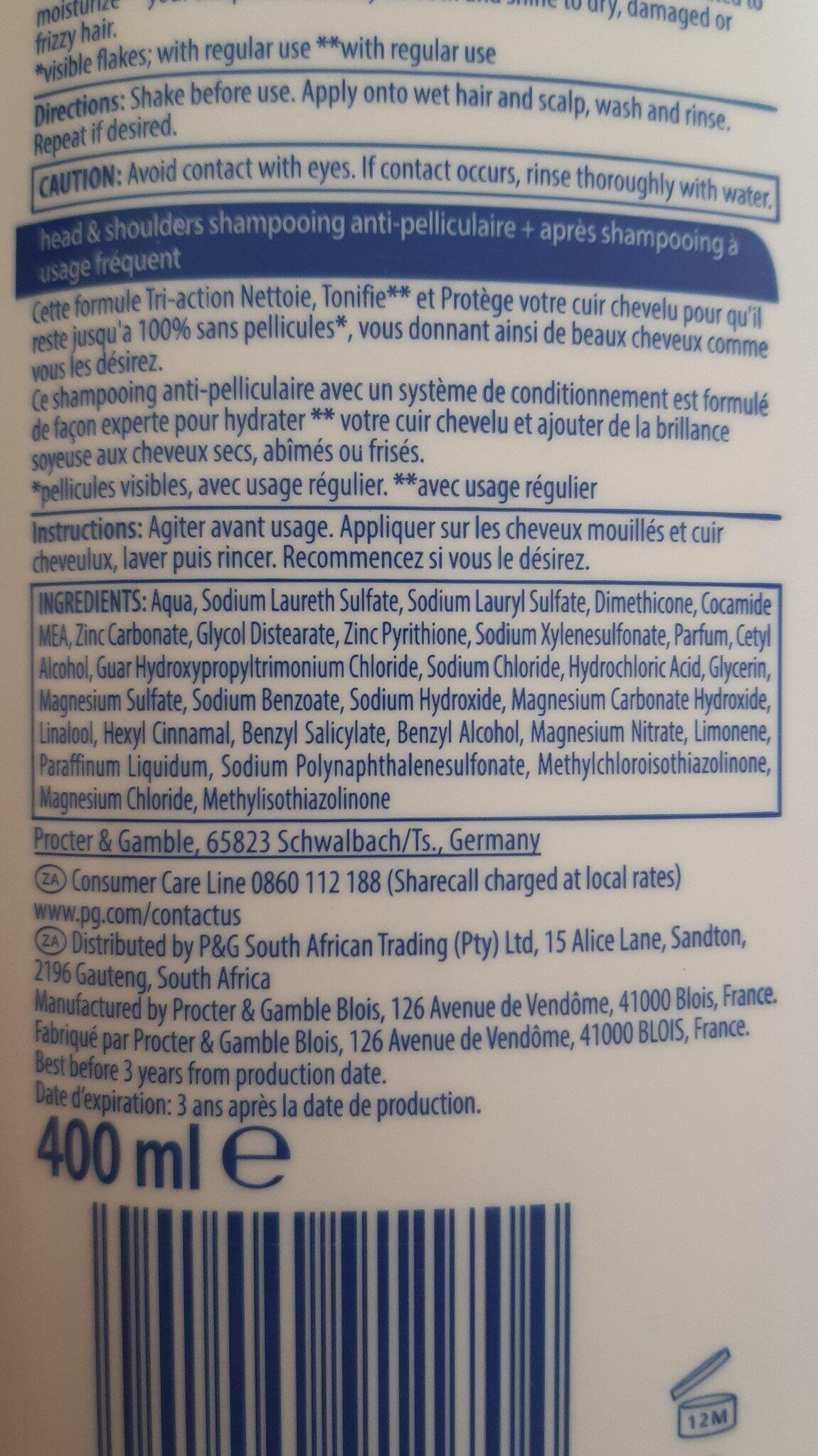 Head & Shoukders 2 in 1 Shampoo - Ingredients - en