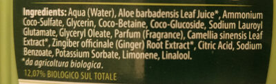 The verde e zenzero doccia gel - Ingredients - it