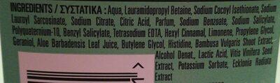 Herbal Essence pure Potent Aloe Bamboo - Ingredients - en
