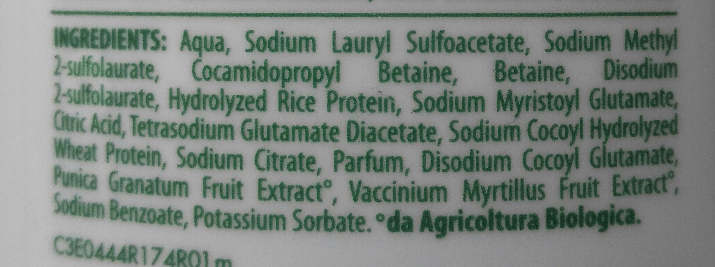 winni's naturel shampoo uso frequente melograno e mirtillo nero - Ingrédients - it