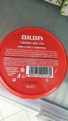 Crema gelato fix semi di lino e cheratina - Ingredients - xx