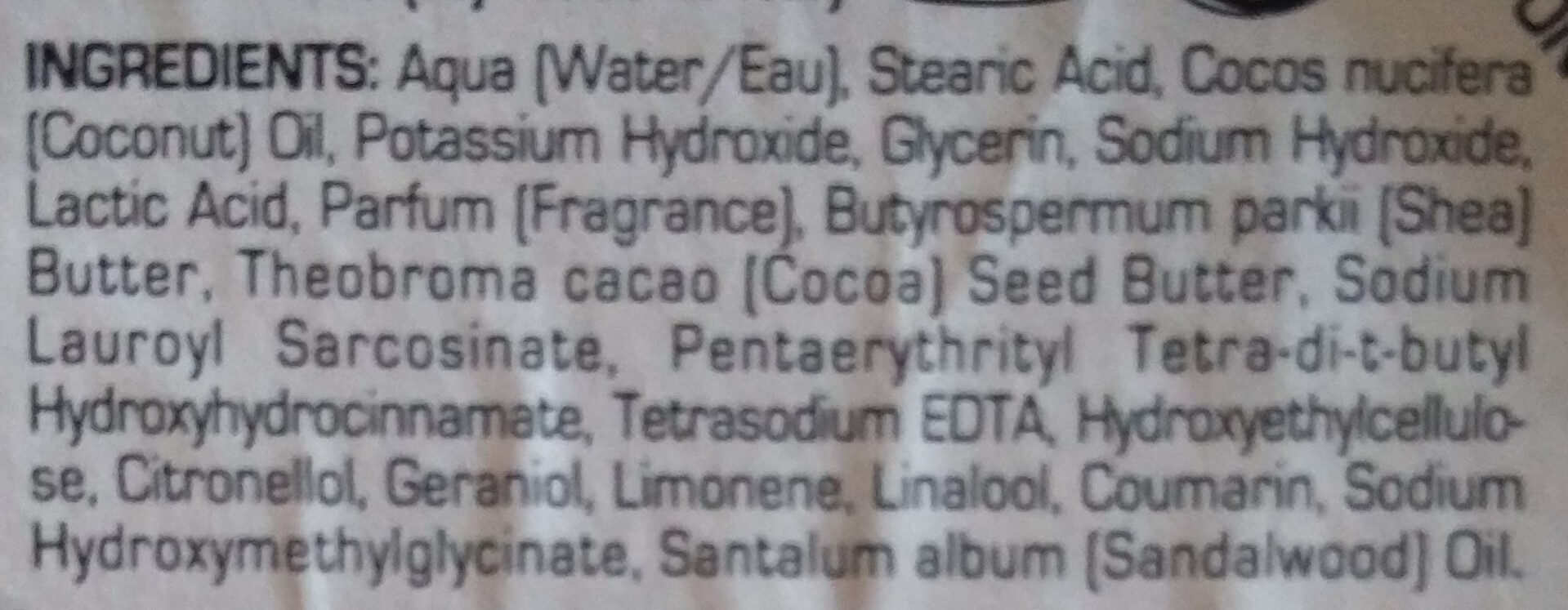 Sapone (Barbe Dure) - Ingrédients - de