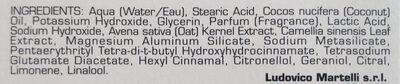 Shaving Cream (Sensitive Skin, with Green Tea and Oatmeal) - Ingredients - de