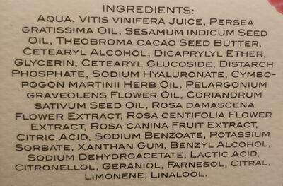 Crema viso antitetà - Ingredients - it