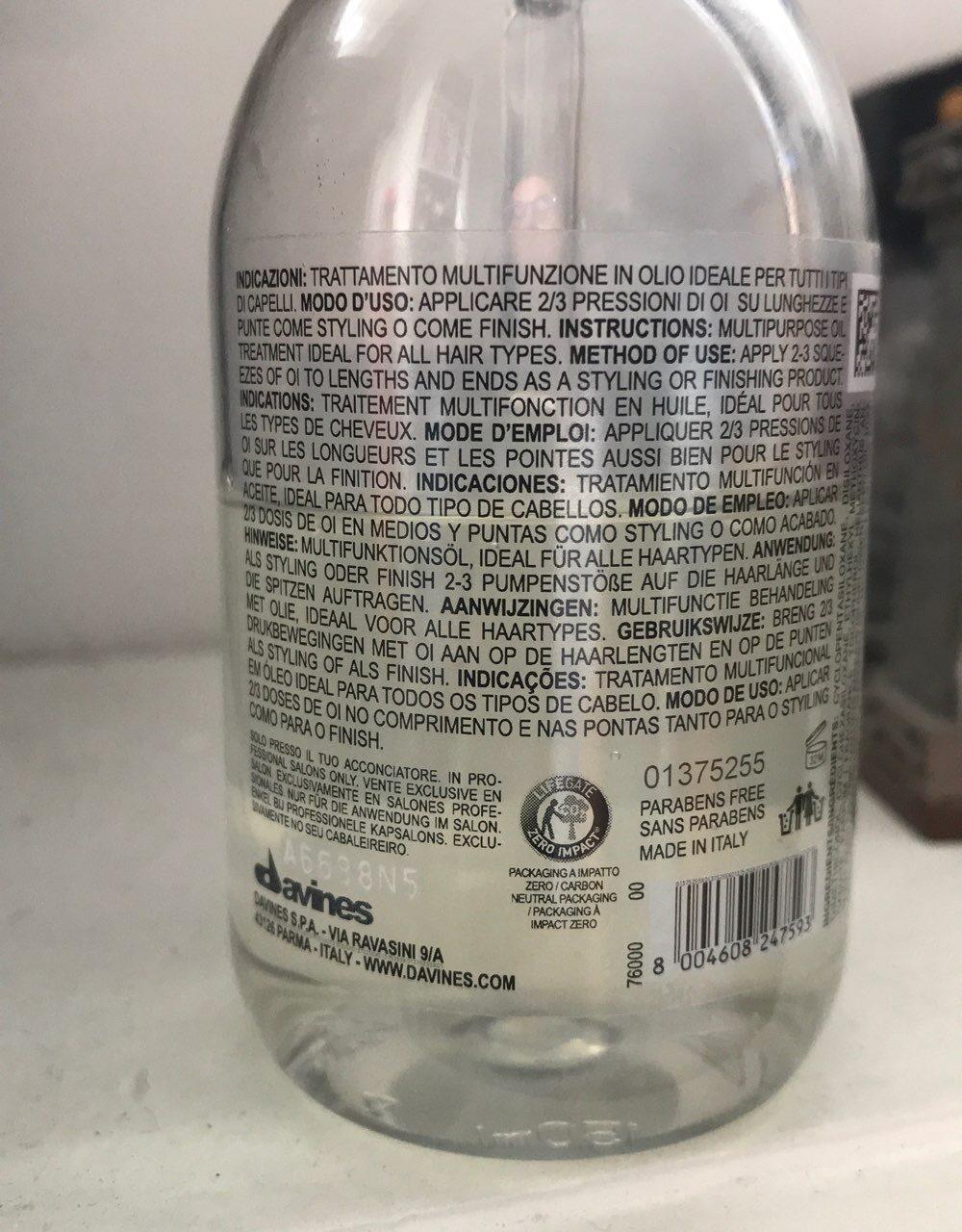 Oi oil - Ingredients - en