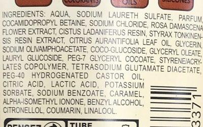 Crème douche Byzance Rose Noire & Labdanum - Ingredients - fr