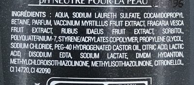 Charlotte Douche Fraise & Myrtille - Ingredients - fr