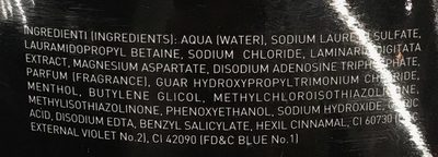Shower gel and shampoo Water - Ingredients - fr