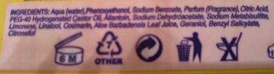 Toallitas bebé - Ingredients - en