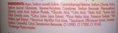 Bagnodoccia Frutta Viva - Ingredients