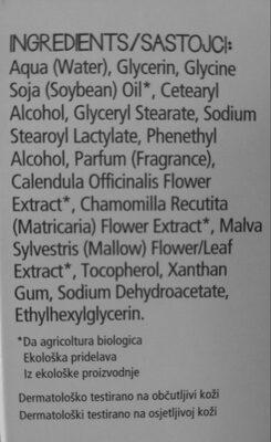 crema idratante e lenitiva per pelli sensibili - Ingrédients - it