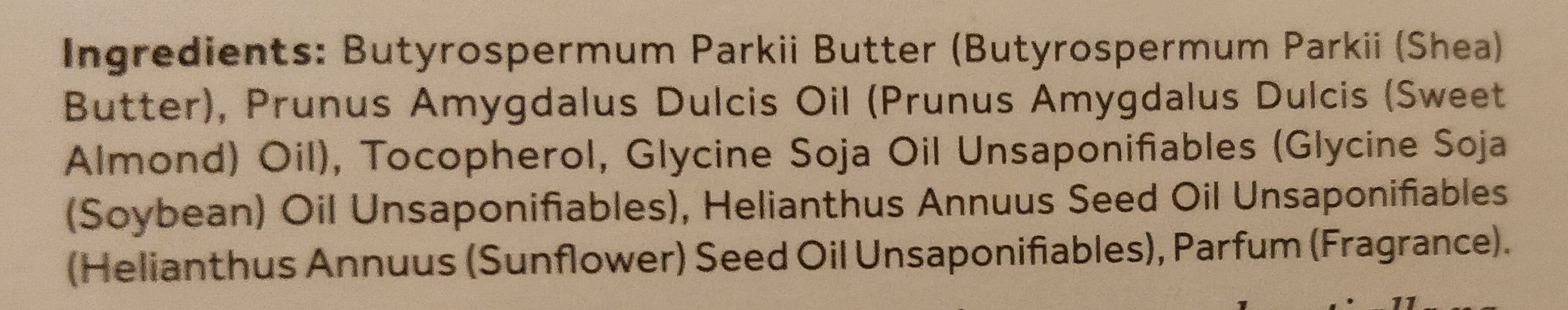 Burro di karité - Ingredients - it