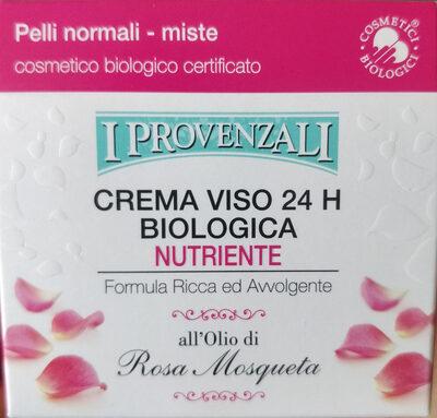 Crema viso 24 h biologica nutriente - Produit - it
