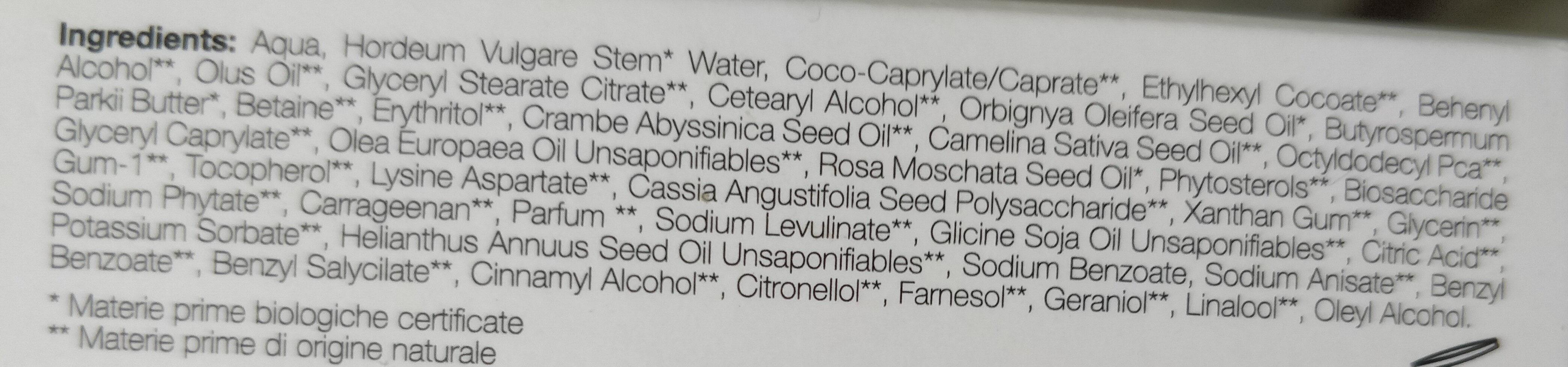 Crema viso 24 h biologica nutriente - Ingrédients - it