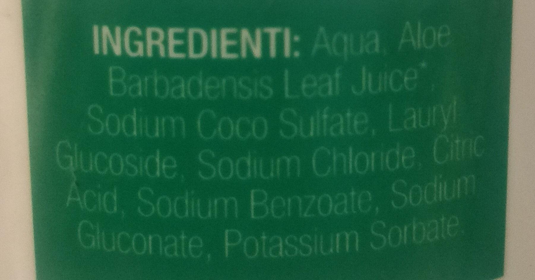sapone mani bio all'aloe vera - Ingredients - it