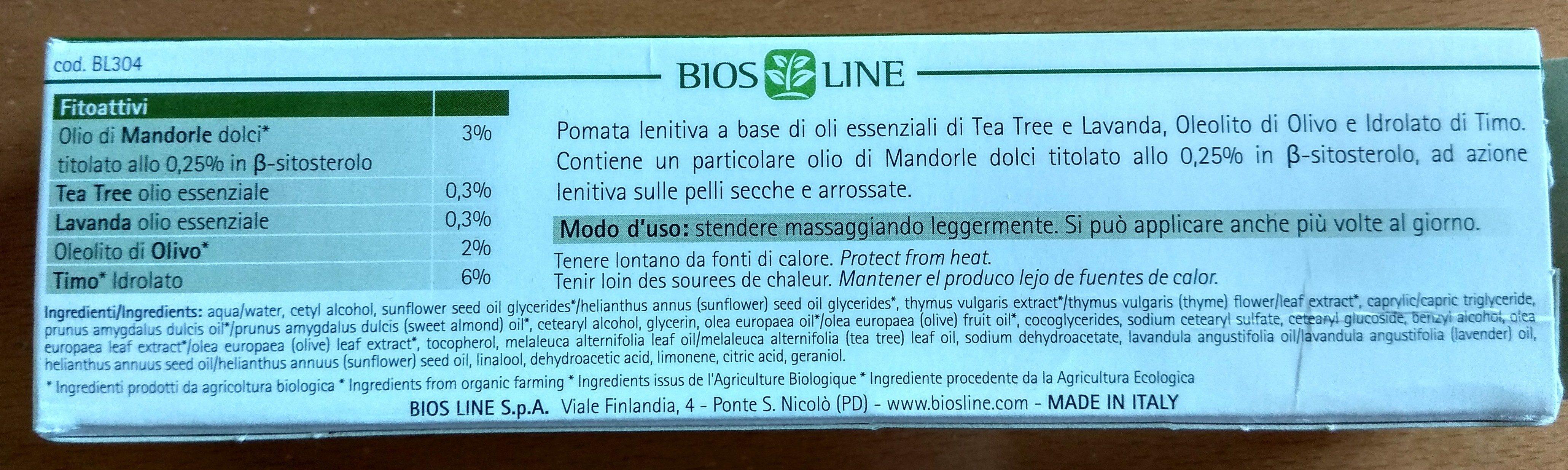 Tea Tree pomata eudermica - Ingredients - it