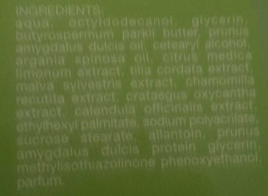 Burro manu Malva tiglio - Ingredients - fr