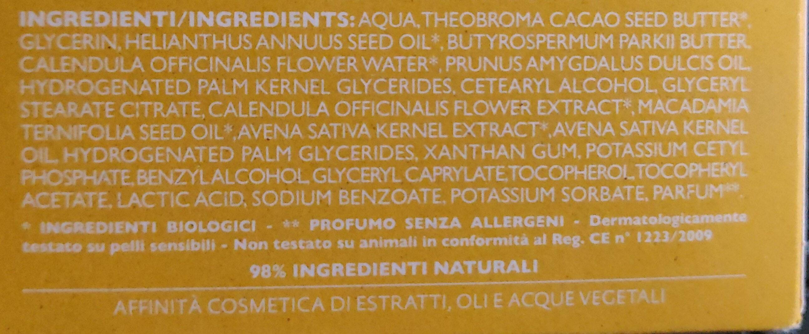 avena & calendula - Ingredients - it