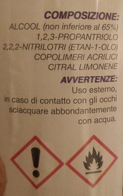 Gel igienizzante mani - Ingredients - it