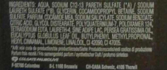 Douche Bois des tropiques - Ingredients