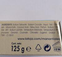 la Toja jabón de tocador con sales minerales - Ingredients