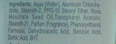Desodorante rosa mosqueta - Ingredients - en