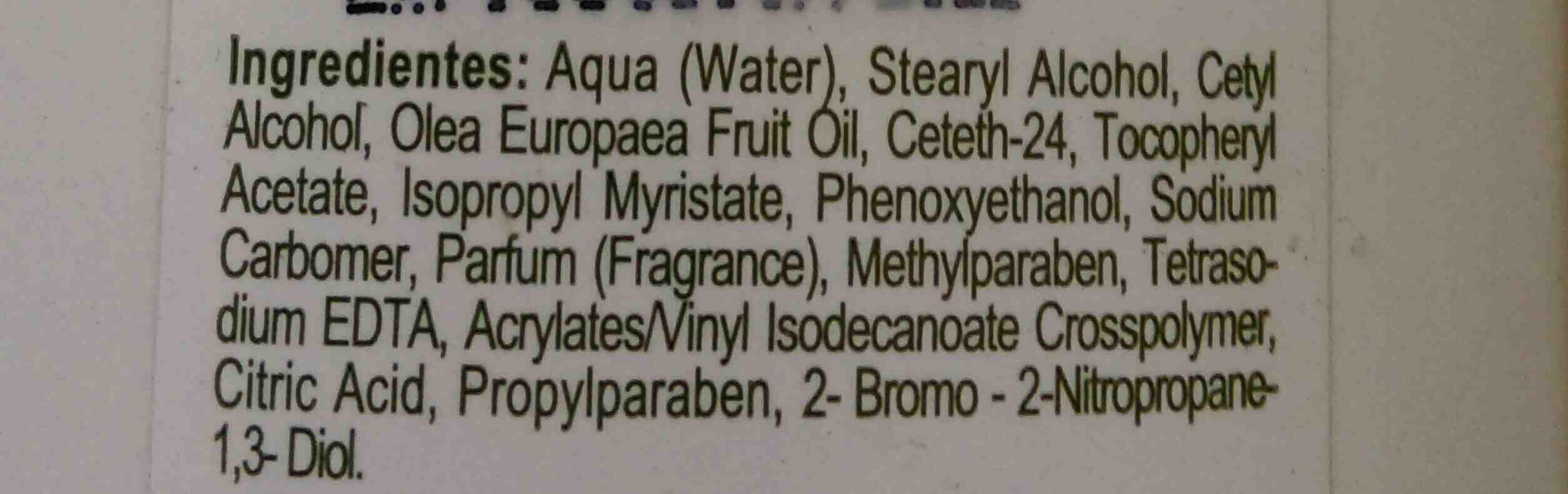 Olive oil body milk - Ingredients - en