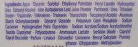 LAIT CORPOREL NUTRISKIN - Ingredients