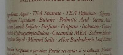 Espuma de afeitar - Ingredients - en