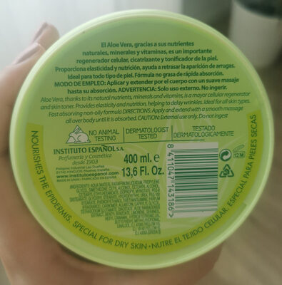 Aloe Vera, body cream / Crema corporal - Product - en