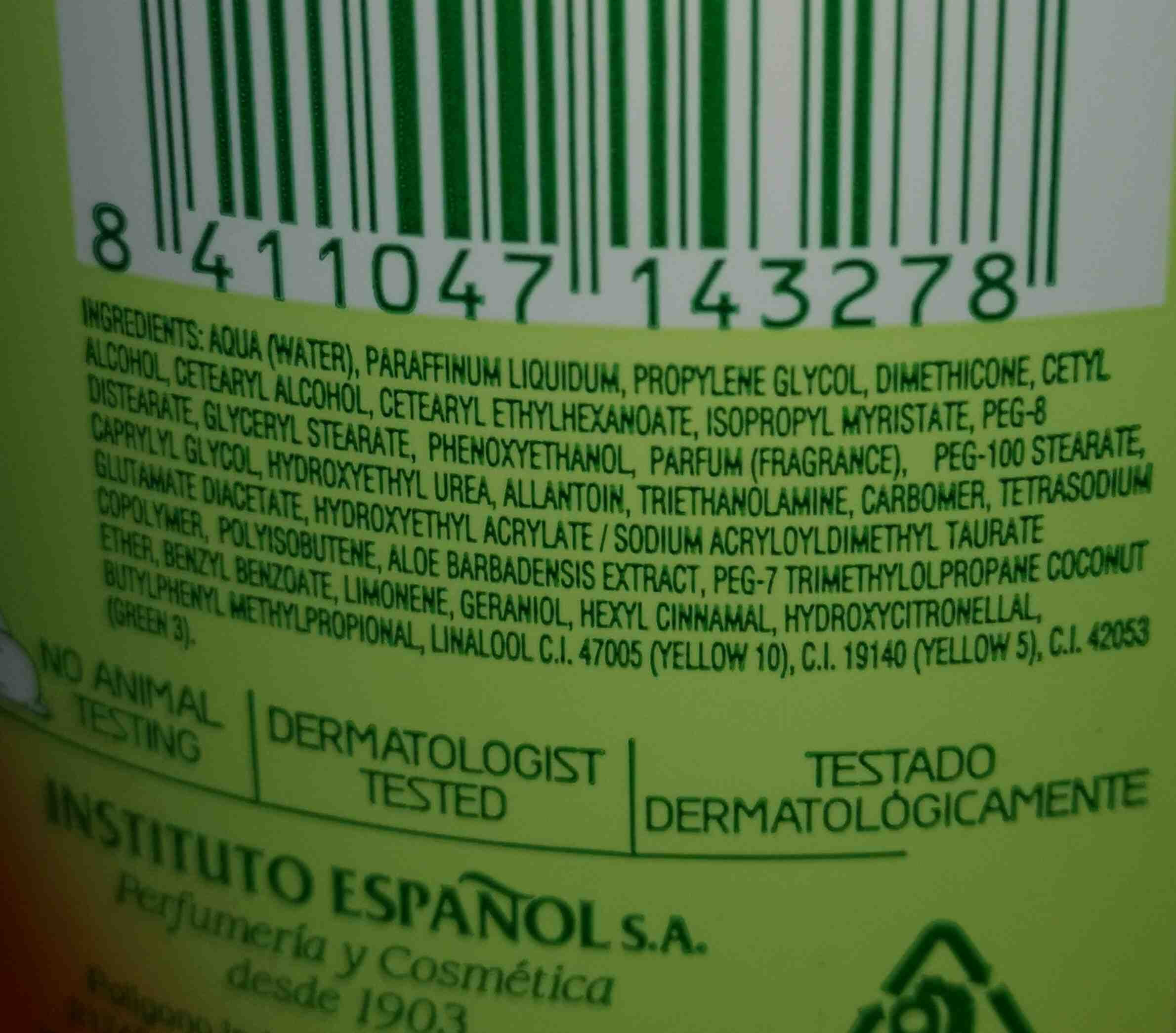Instituto Espanol - Ingredients - en