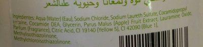 Shampooing Pomme Verte - Ingredients - fr