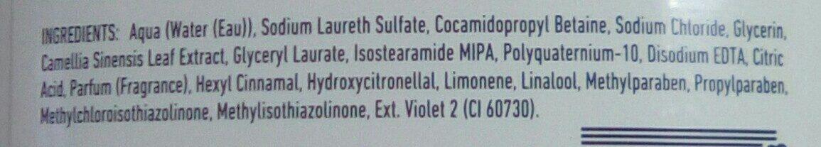 Revlon Gel Douche Zen Natural Honey - Ingredients - fr