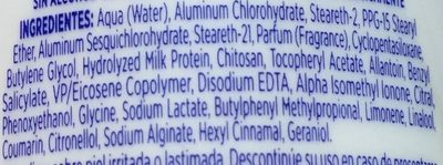 Desodorante Extra Eficaz - Ingrédients - es