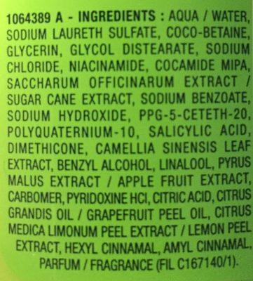 Fructis fuerza & brillo - Ingredients - es