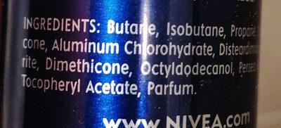 Nivea deodorant Aqua Cool For Men - Ingredients - es
