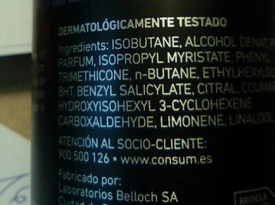 Desodorante kyrey for men - Ingrédients - es