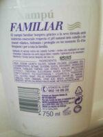 Xampu familiar bon preu - Ingredients - en