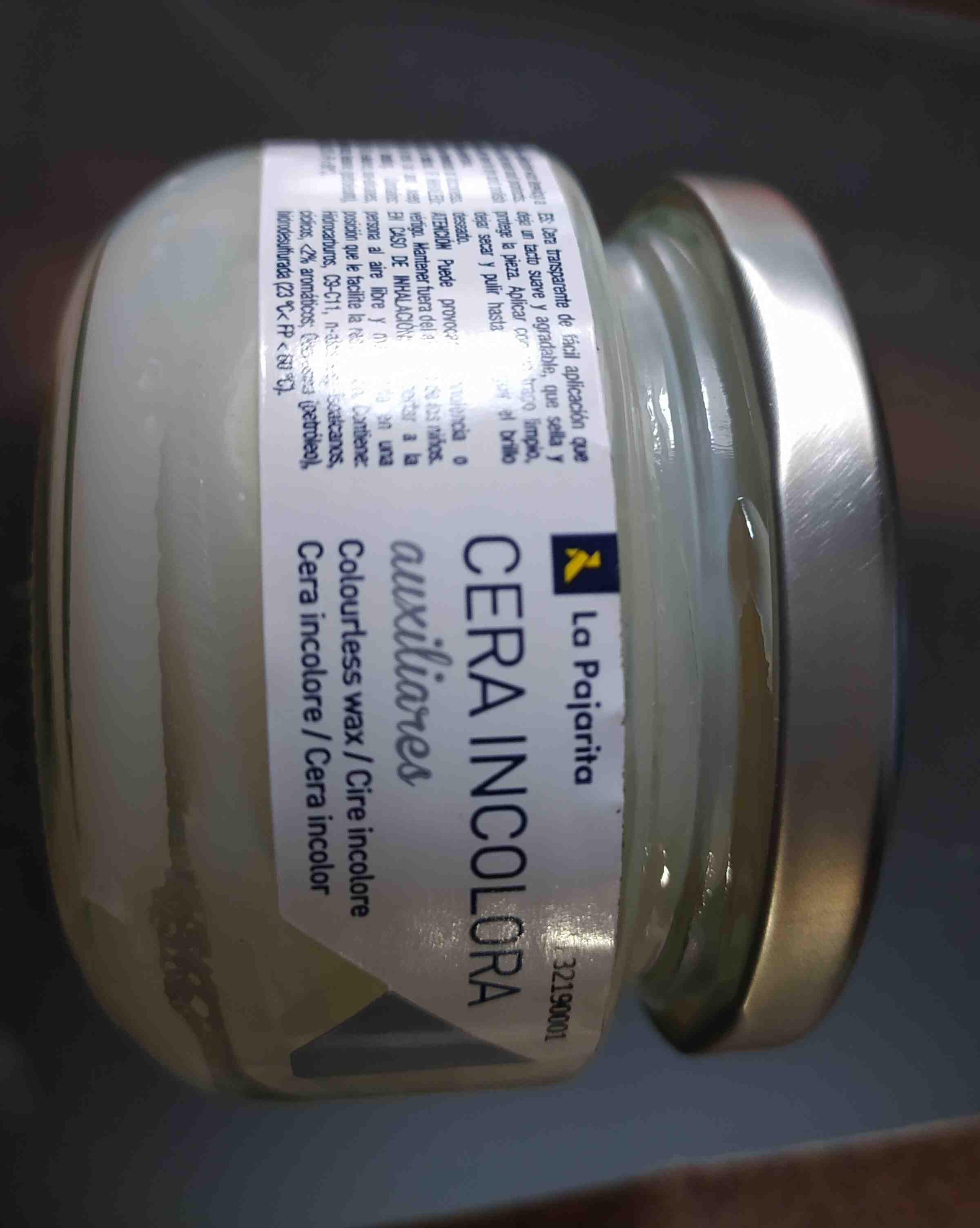 la pajarita cera incolora auxiliares - Ingredients - en