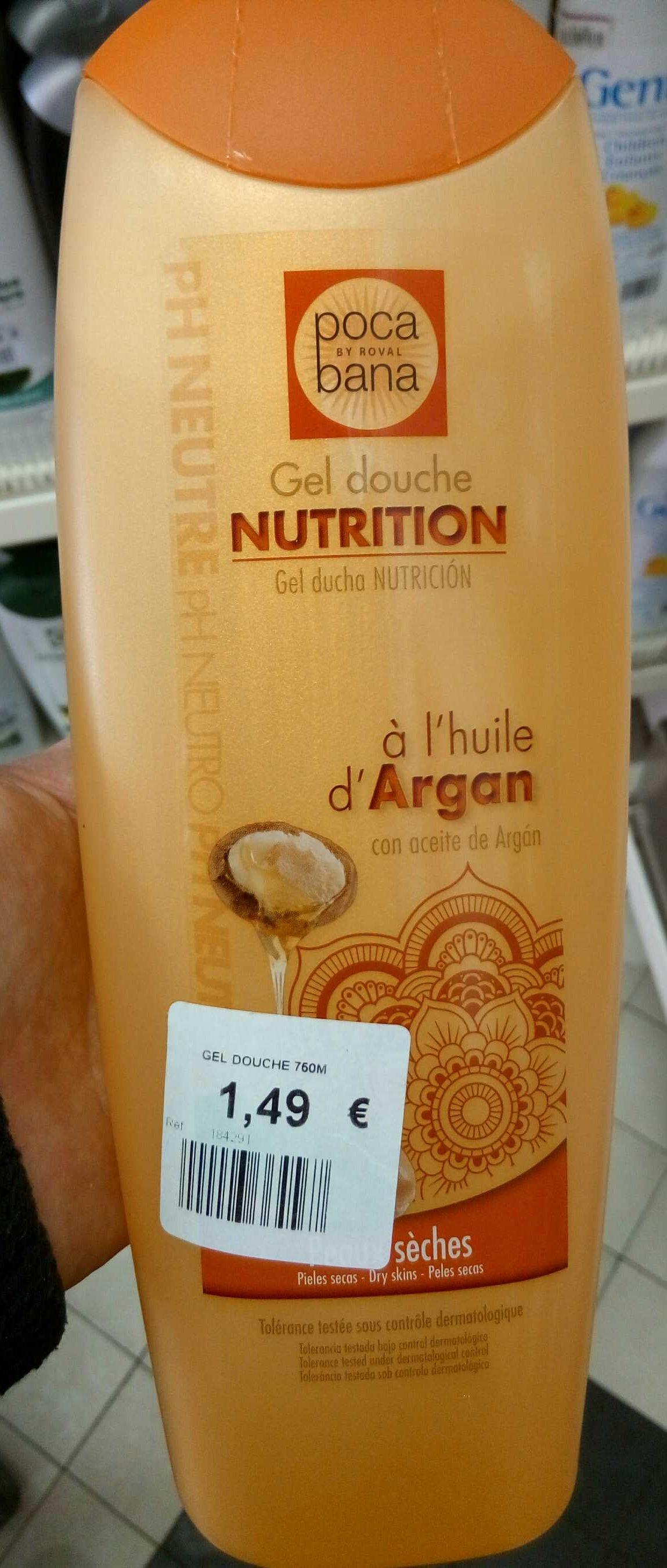 Gel douche nutrition à l'huile d'argan - Product - fr