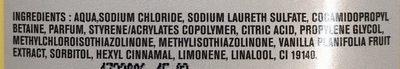 Crème de douche vanille Evasion - Ingredients - fr