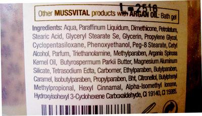 Body Milk - Ingrédients