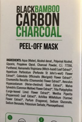 Dietesthetic Beauty Purify Black Carbon Peel-off - Ingrédients