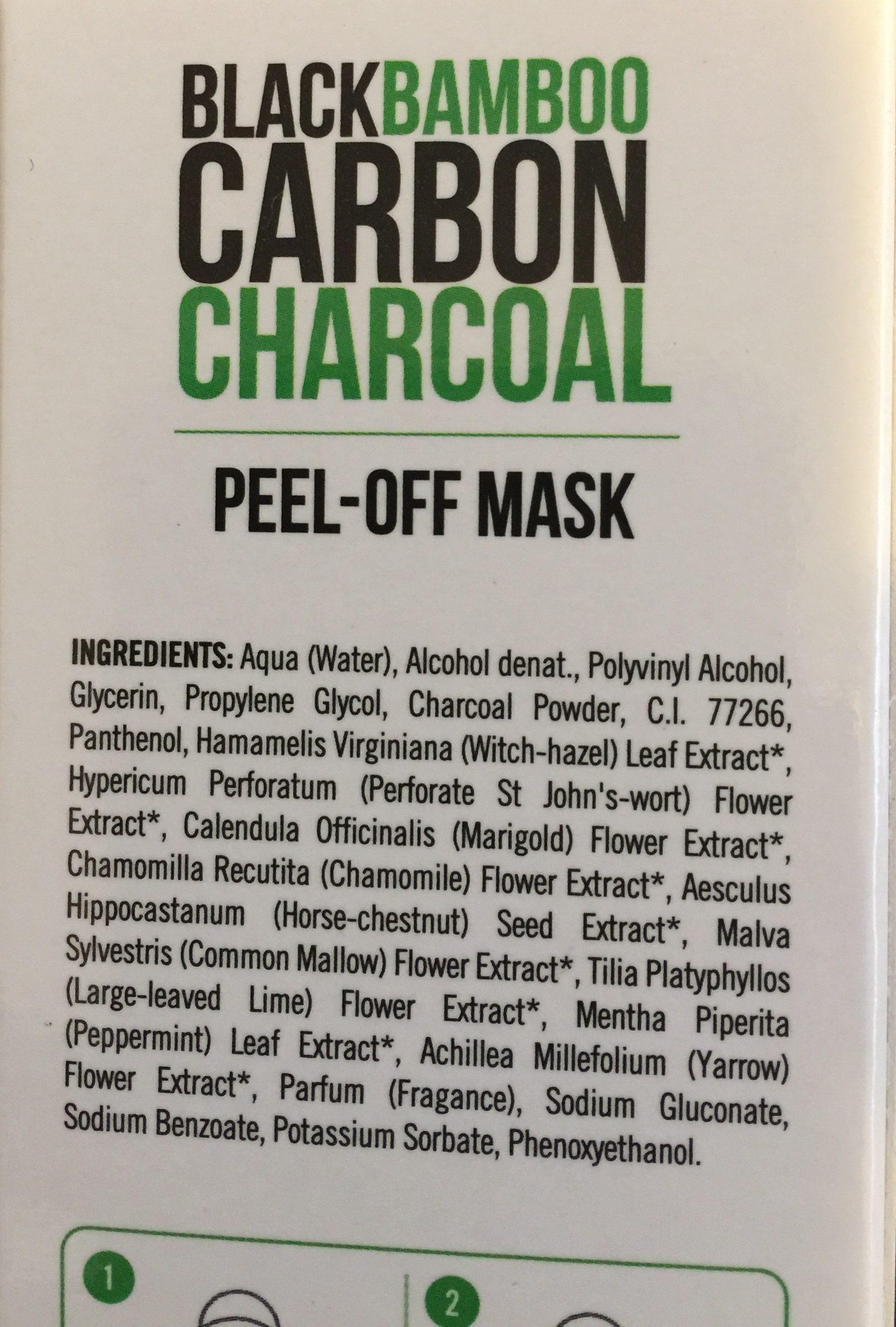 Dietesthetic Beauty Purify Black Carbon Peel-off - Ingredients - fr