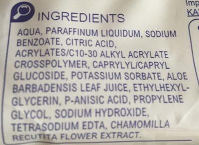 Baby Lingette Bebe Eco Recharge Rectangulaire 72ctnettoyant Et Adoucissant Epaisse Aloe Vera - Ingredients
