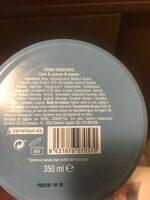 Crema manos cara cuerpo lata - Ingredients - es